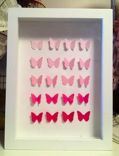 Butterfly shadow box idea from Oh My Crafts!