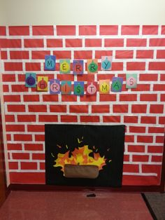 the kids swear that it is warmer in our classroom next to christmas fireplace christmas - Christmas Classroom Decorations
