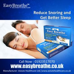 Reduce Snoring and Get Better Sleep.