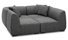 Sectional Like This on a Budget? — Good Questions | Apartment Therapy.    Turns into sectional!