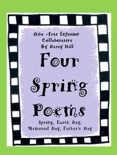 """The 4 short, simple, rhyming poems are relevant for Spring themes:SpringEarth DayMemorial DayFather's DayEach of the one page poems contains 4 or 6 fill in the blank rhyming words which must be selected from a word box. 2 of the poems, when completed, can be sung to the tune, """"Twinkle Twinkle Little Star."""" It's fun to sing a poem!"""