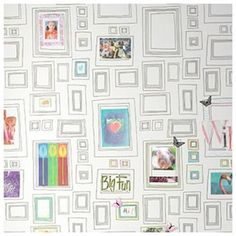 Empty frame wallpaper- Interactive wall art, oh, the possibilities! Nice for a tween's room