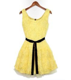 Charming Splicing Design Stereo Rose Embroidery Cotton Blend Banquet Dress For Women