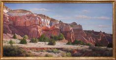 ARTURO CHAVEZ - NEAPOLITAN CLIFFS Phoenix Art Museum, Western Landscape, Southwestern Art, New Mexican, Art Images, Monument Valley, Grand Canyon, Mount Rushmore, Mexico