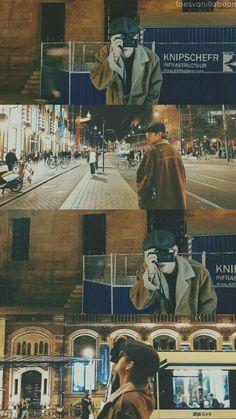 I love that we got to experience this lovely city at the same time 💜 V Taehyung, Bts Bangtan Boy, Daegu, V Bts Wallpaper, Scenery Wallpaper, Bear Wallpaper, Winter Wallpaper, Foto Bts, Bts Pictures