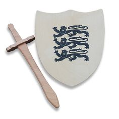 Buy  the 3 Lions Wooden Shield & Sword from our Children's Toys and Games…