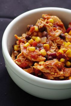 Starting to think about cold weather foods: Crock Pot Chicken Taco Chili