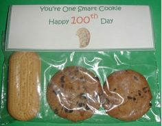 100th Day of School Cookies