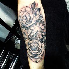 pocket watch tattoo - Google Search
