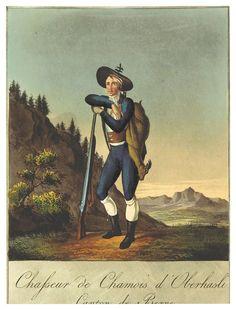 REINHARDT(1822), Costumes Suisses -CHASSEUR DE CHAMOIS D'OBERHASLI, CANTON DE BERNE.jpg
