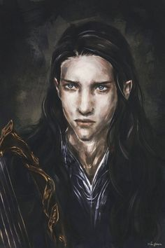 Maglor by Miyota Tolkien, Best Fantasy Series, Different Drawing Styles, Male Fairy, Shadow Of Mordor, Wolf, Art Prompts, Guy Drawing, Book Characters