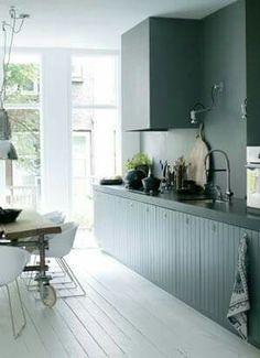 Keukenkastjes zelfde kleur als achterwand