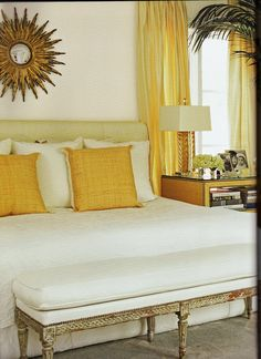 Glamorous bedroom.