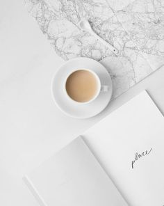 minimalist, book, and coffee image