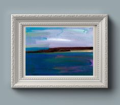 "This unframed original oil painting of the Long Sands Headland, Tynemouth packs a beautiful sublime horizon into its 18 x 13 cm (5 x 7""). The manganese blue suggest a clear sunny day on the north e..."