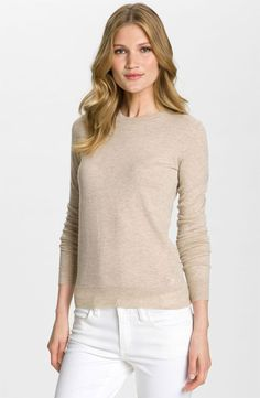 089b125c2 Tory Burch  Iberia  Cashmere Logo Sweater available at  Nordstrom Tory Burch