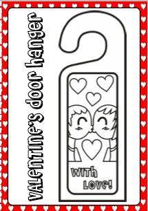 NEW! VALENTINE'S FUN PACK - door hanger http://eslchallenge.weebly.com/valentines-fun-time.html