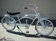 "Stretch Banana Cruiser 26"" CHROME  bicycle"