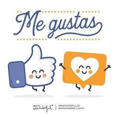 "Hoy un ""me gusta"" para ti, para todos los que día tras día nos dais vuestros ""likes"" y nos sacáis una sonrisa. ¡Moláis lo que no está escrito! I like you. Have a ""like"" from us today, all of you who put a smile on our faces by giving us your ""likes"" day after day. There are no words for how great you guys are! #mrwonderfulshop #quotes #like"