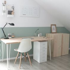 Looking for home office ideas that will inspire productivity and creativity? Discover 65 stunning home office design ideas that make will make work fun. Home Office Design, Home Design Decor, Home Office Decor, Office Furniture, Home Interior Design, Office Ideas, Design Ideas, Furniture Ideas, Diy Interior