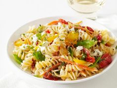 Pasta Primavera - light & healthy, but hearty enough to fill up my man