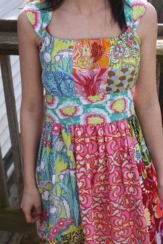 I need a patchwork dress!  Sis boom Janie Dress