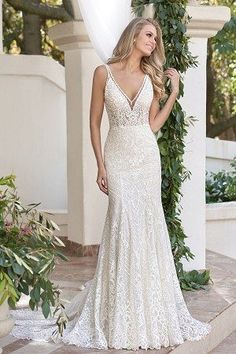 6ff56c71b05 33 Best v neck wedding dress images