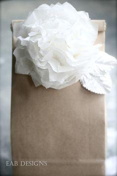 Paper flower & Paper bag