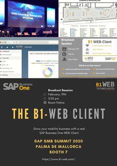 B1 Web Technologie bietet ein vollwertiges #SAP BusinessOne #Framework (B1-WEB) mit allen Modulen wie Buchhaltung, CRM, Vertrieb, Produktion usw.