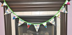 6 ft fabric Banner Bunting flag Very Hungry by FromMorgansCloset, $19.00