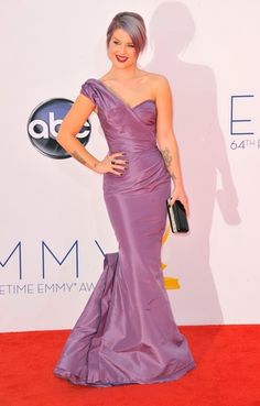 Kelly Osbourne shows off the perfect shade of purple at the Emmy's... How awesome would this be for a #wedding #color ...?