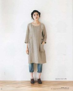 One-Piece Dress Tunic Patterns Japanese by JapanLovelyCrafts