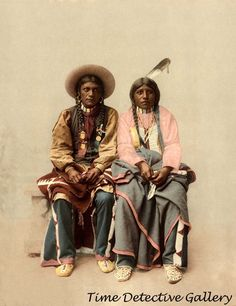Native Americans Pee Viggi & Wife, Southern Utes - 1899 - Historic Photo Print | Collectibles, Cultures & Ethnicities, Native American: US | eBay!