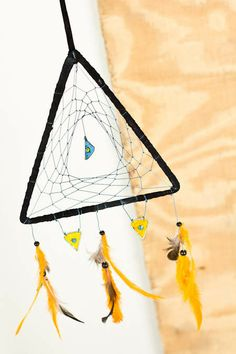 Black Triangle Dreamcatcher - $14.95   We're loving dreamcatchers in nontraditional shapes and styles!