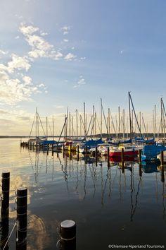 Chiemsee mit Booten