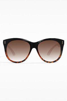 Giselle Brand Oversized Rounded 'Marlow' Sunglasses - Black/Tortoise - 5506-3
