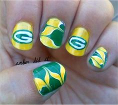 These Packers nails are awesome!!