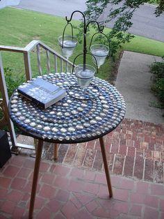 10 best tiling cable spool project images mosaic tile table tile rh pinterest com