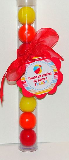 Beach Pool Party Gumball Party Favors Set of 5 by thatsawrap2, $8.00