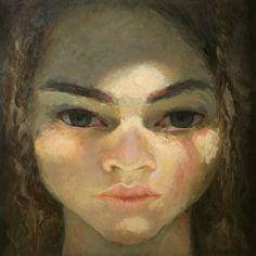 "Saatchi Art Artist Ilir Pojani; Painting, ""Head of a woman 4"" #art"