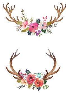 Pin By Brooke Burns On Transfer Antler Feather Items In 2020 Watercolor Flowers Paintings Antler Art Drawing Deer Painting