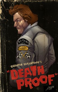 """""""Death Proof: Stuntman Mike"""" by Guillermo Ariete Tarantino Films, Quentin Tarantino, Cult Movies, Indie Movies, Love Movie, I Movie, Movie Theater Showtimes, Horror Posters, Movie Posters"""