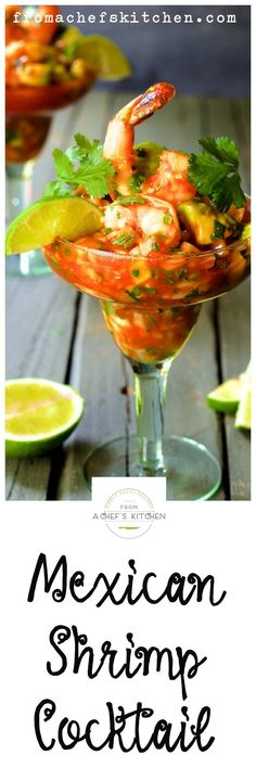 Mexican Shrimp Cocktail is perfect for Cinco de Mayo or just chilling on the patio!