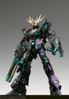 HGUC 1/144 Unicorn Gundam 02 Banshee (NT-D Mode) - Customized Build Modeled by about75