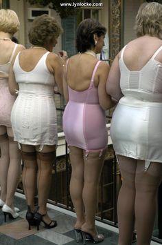 Classic shapewear for discerning ladies! Vintage Girdle, Vintage Underwear, Vintage Lingerie, Nylons, Secret In Lace, Granny Panties, Belle Lingerie, Shapewear, Vintage Fashion