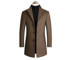 BOLUBAO Brand Men Wool Blends Coats Autumn Winter New Solid Color High Quality Men's Wool Coats Luxurious Wool Blends Coat Male-in Wool & Blends from Men's Clothing on AliExpress Trench Coat Sale, Trench Jacket, Stylish Street Style, Mens Wool Coats, Wool Overcoat, Men Coat, Warm Coat, Wool Blend, Winter Jackets