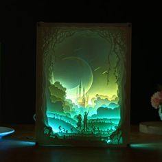 product image for Paper Art Lamp 3d Paper Art, Paper Artwork, Paper Crafts, Kleiner Muck, Lampe 3d, Pop Up Art, Shadow Box Art, Paper Light, Paper Illustration