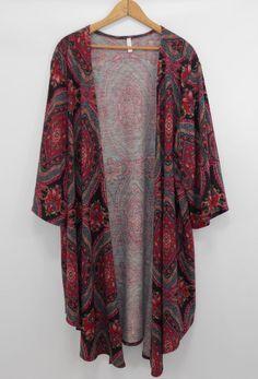 28a842ac9fb8 PINKBLUSH 3XL Draped Open Front Cardigan Paisley Kimono Sleeve 3/4 Sleeve |  eBay