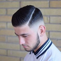 Handsomely clean cut with a side part