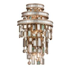 Corbett Lighting Dolcetti 3 Light High Wall Sconce with Glass Sha Dolcetti Silver Indoor Lighting Wall Sconces Ambient Lighting Corbett Lighting Dolcetti 3 Light Indoor Wall Sconces, Wall Sconce Lighting, Feng Shui, Design Seeds, Craft Iron, Corbett Lighting, Silver Walls, Wall Lights, Ceiling Lights